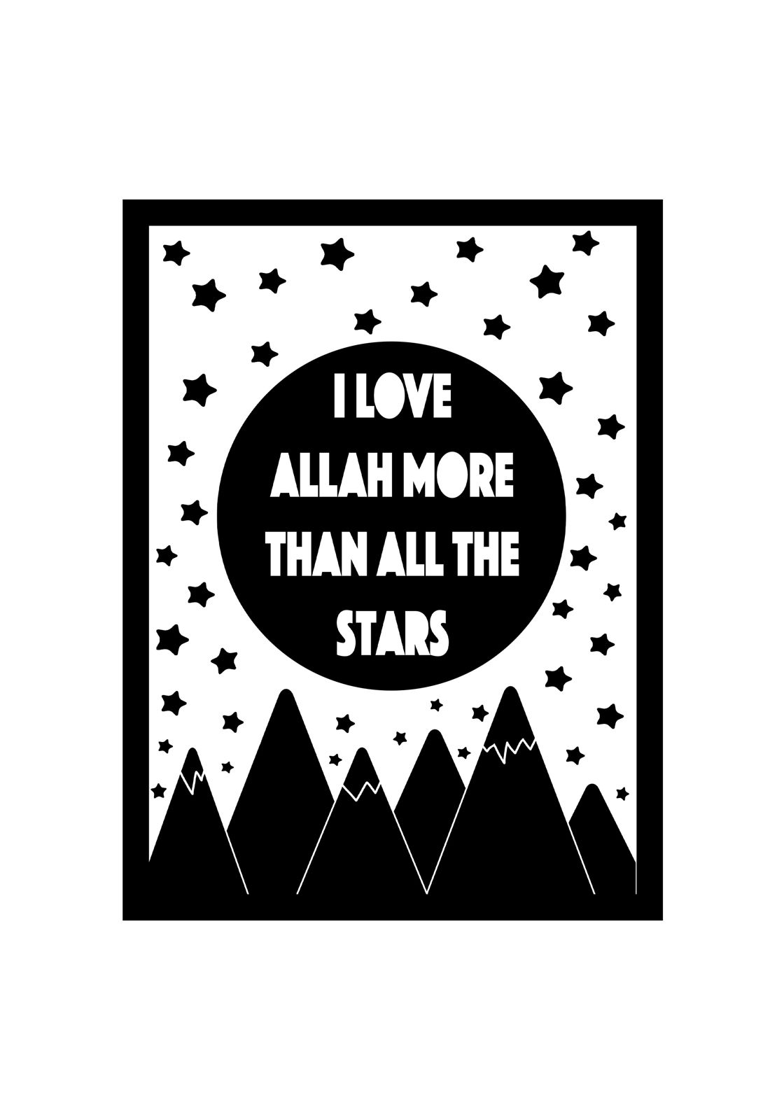 I love Allah more than all the stars_opt