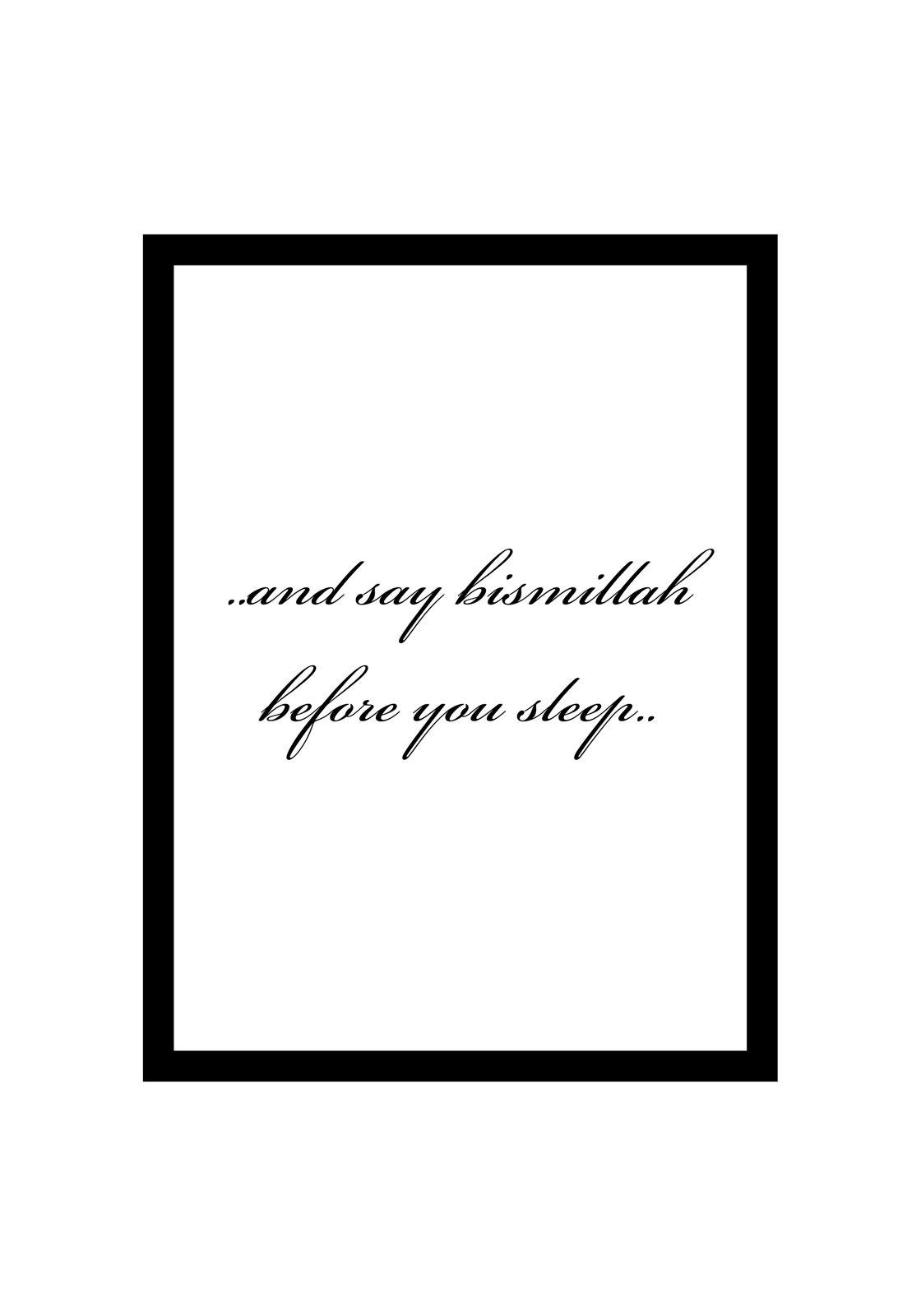 Say bismillah before you sleep _opt